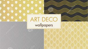 art deco tapetti