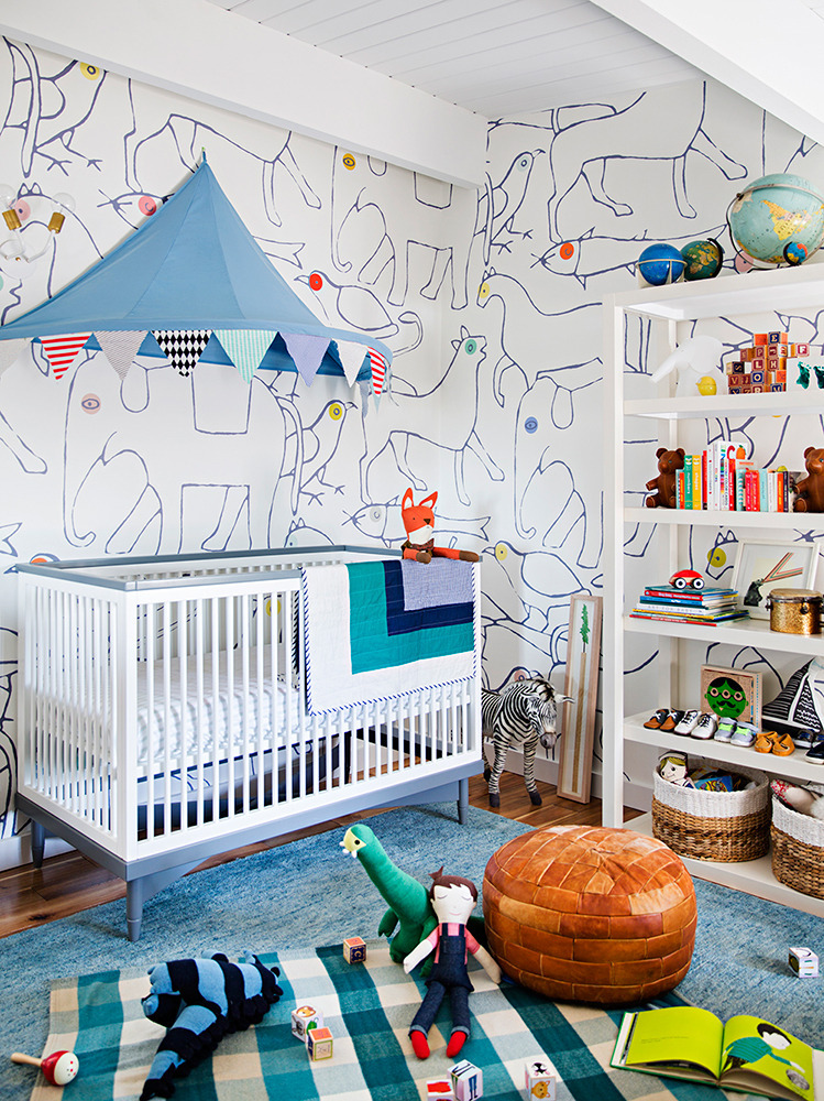 at-home-with-Emily-Henderson-The-nursery%E2%80%99s-walls-are-covered-in-whimsical-hand-printed-wallpaper-wp5803691