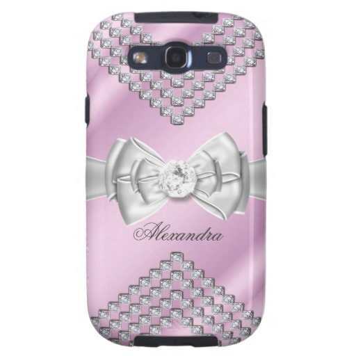 best-recommended-Elegant-Pink-Silver-White-Bow-Diamond-Image-Samsung-Galaxy-SIII-Case-wallpaper-wp3002746