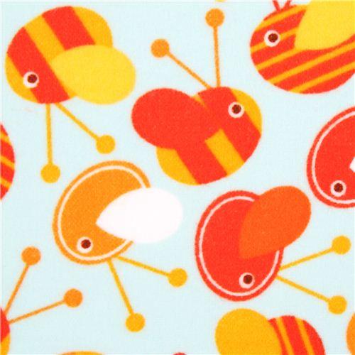 blue-bee-animal-flannel-fabric-Robert-Kaufman-wild-wallpaper-wp4405208