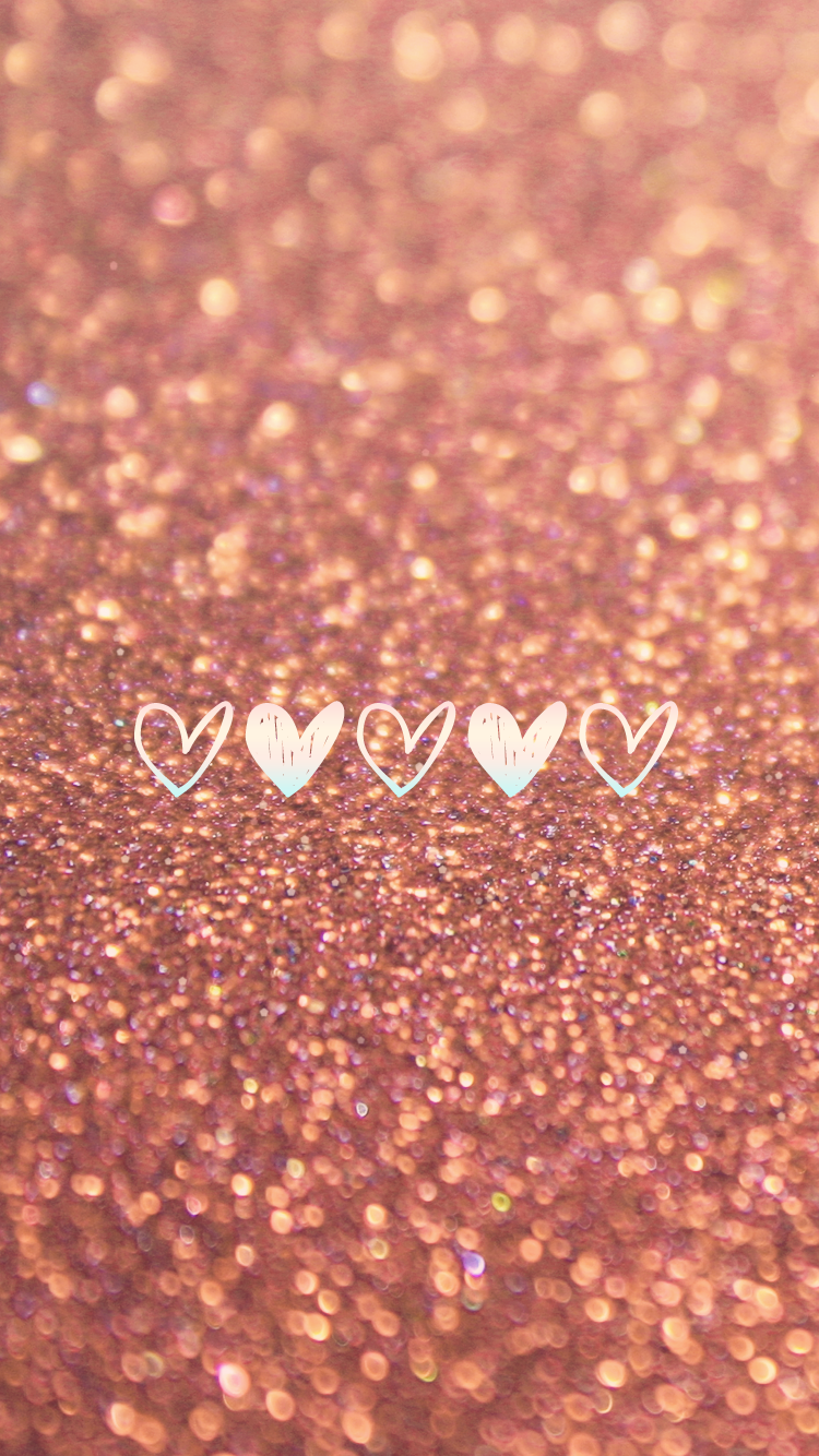 bronze-glitter-hearts-wallpaper-wp5804221