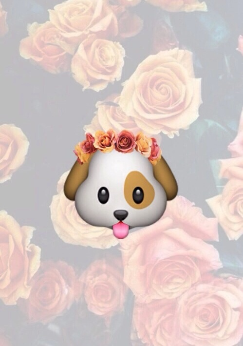 dog-emoji-and-flowers-image-wallpaper-wp4605436