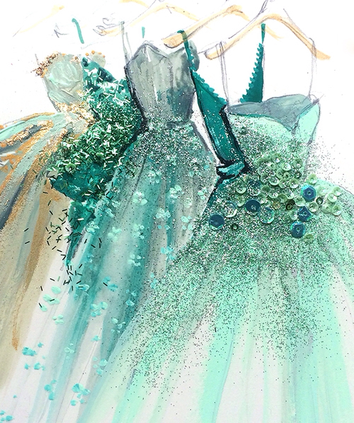 fashion-illustration-art-print-of-green-blue-gold-hue-designer-couture-evening-ball-gowns-by-Katie-R-wallpaper-wp5604722