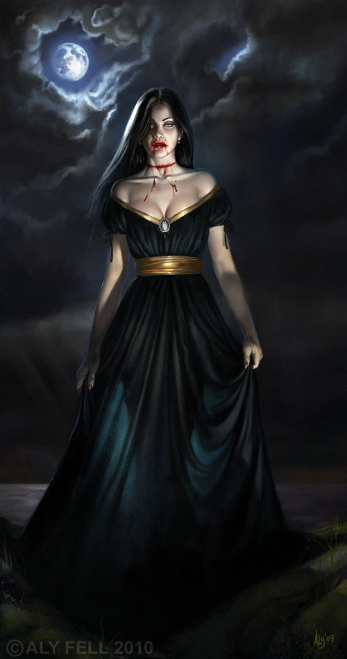 female-vampire-in-black-gown-wallpaper-wp4605884