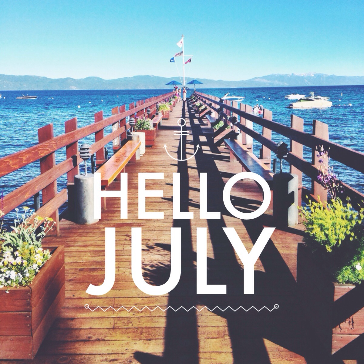 Beautiful Hello July Wallpaper Wp5405622