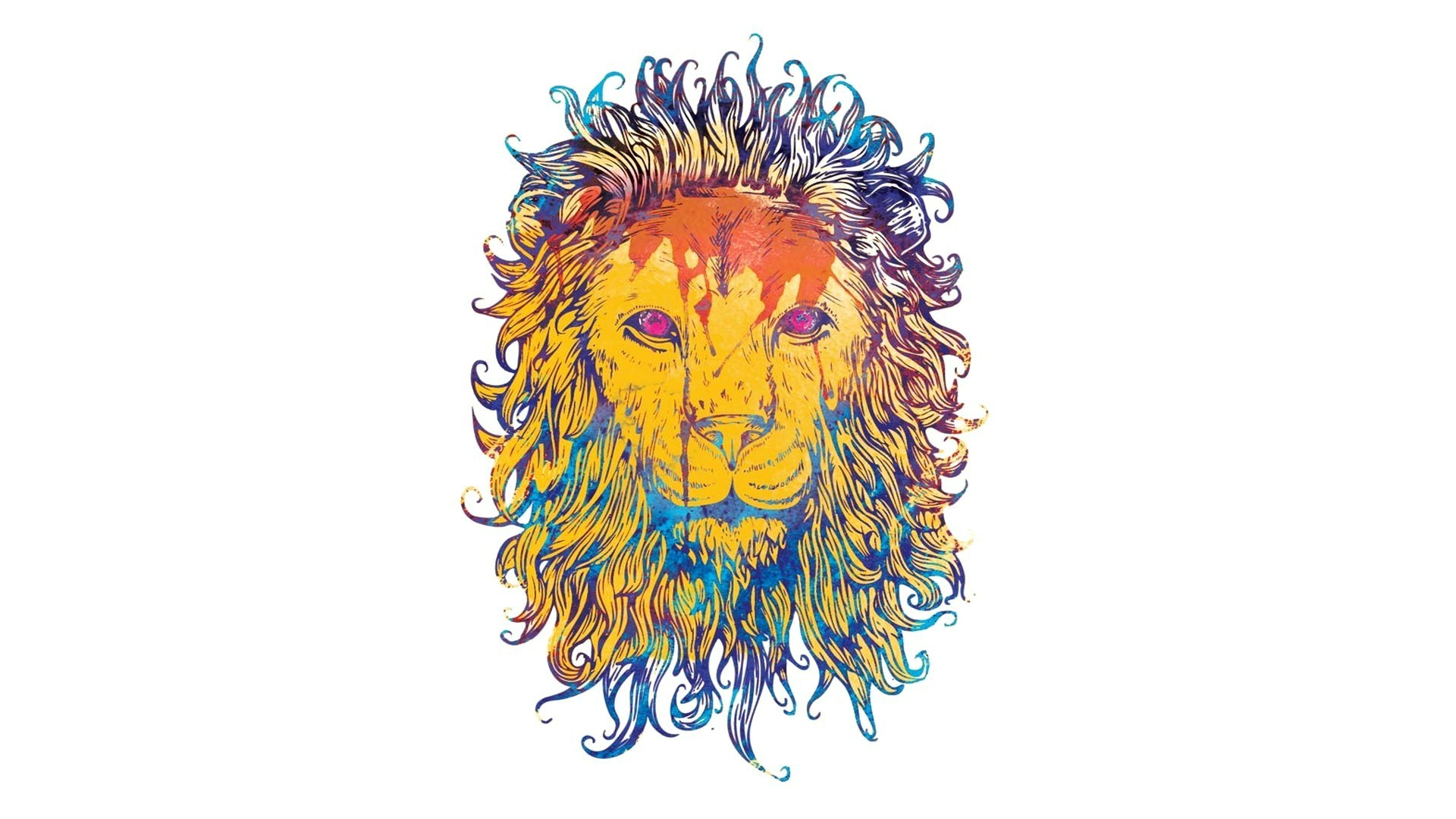 lion-drawing-colorful-king-king-of-beasts-1920x1080-wallpaper-wp3408155