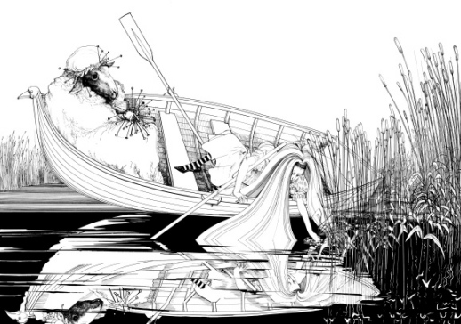 ralph-steadman-alice-in-boat-wallpaper-wp52010579