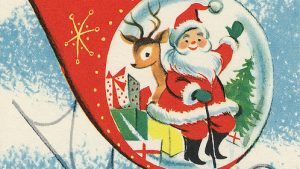 Vintage Christmas wallpaper