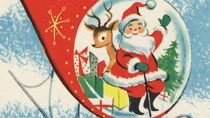 Vintage kertas dinding Krismas