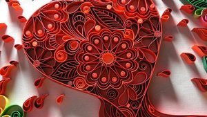 Paper Quilling tapet