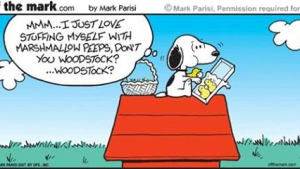 papier peint Snoopy Pâques