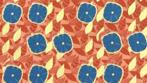 Fabric pattern wallpaper