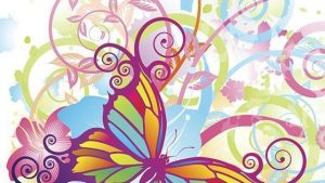 Butterfly Art tapetti