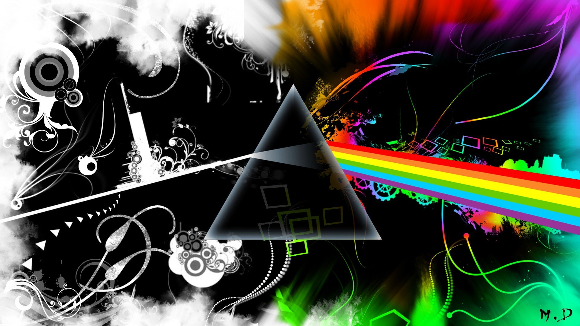 Abstract-music-Pink-Floyd-multicolor-Rock-music-The-Dark-Side-Of-wallpaper-wp3802155