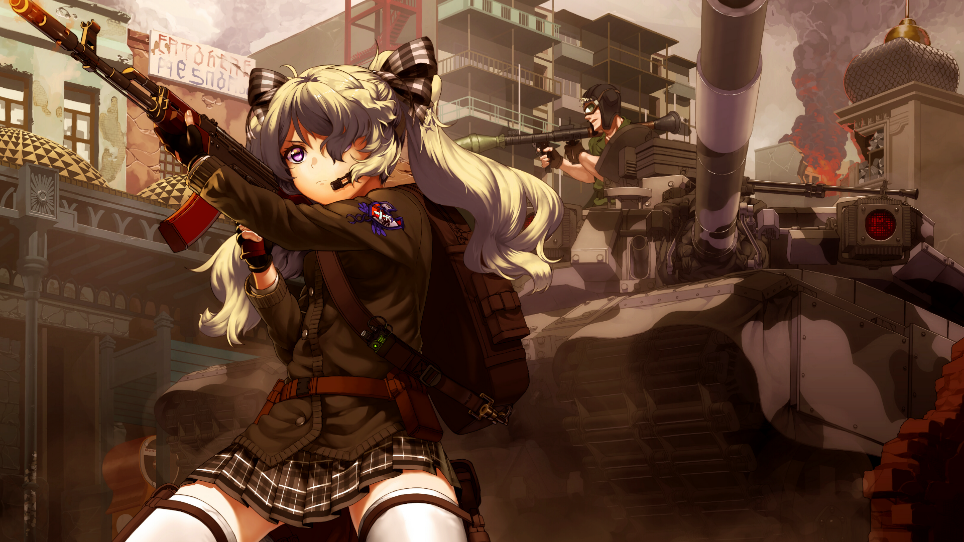 Anime-1920x1080-anime-girls-anime-weapon-tank-AK-original-characters-gun-military-skirt-wallpaper-wpc9002250