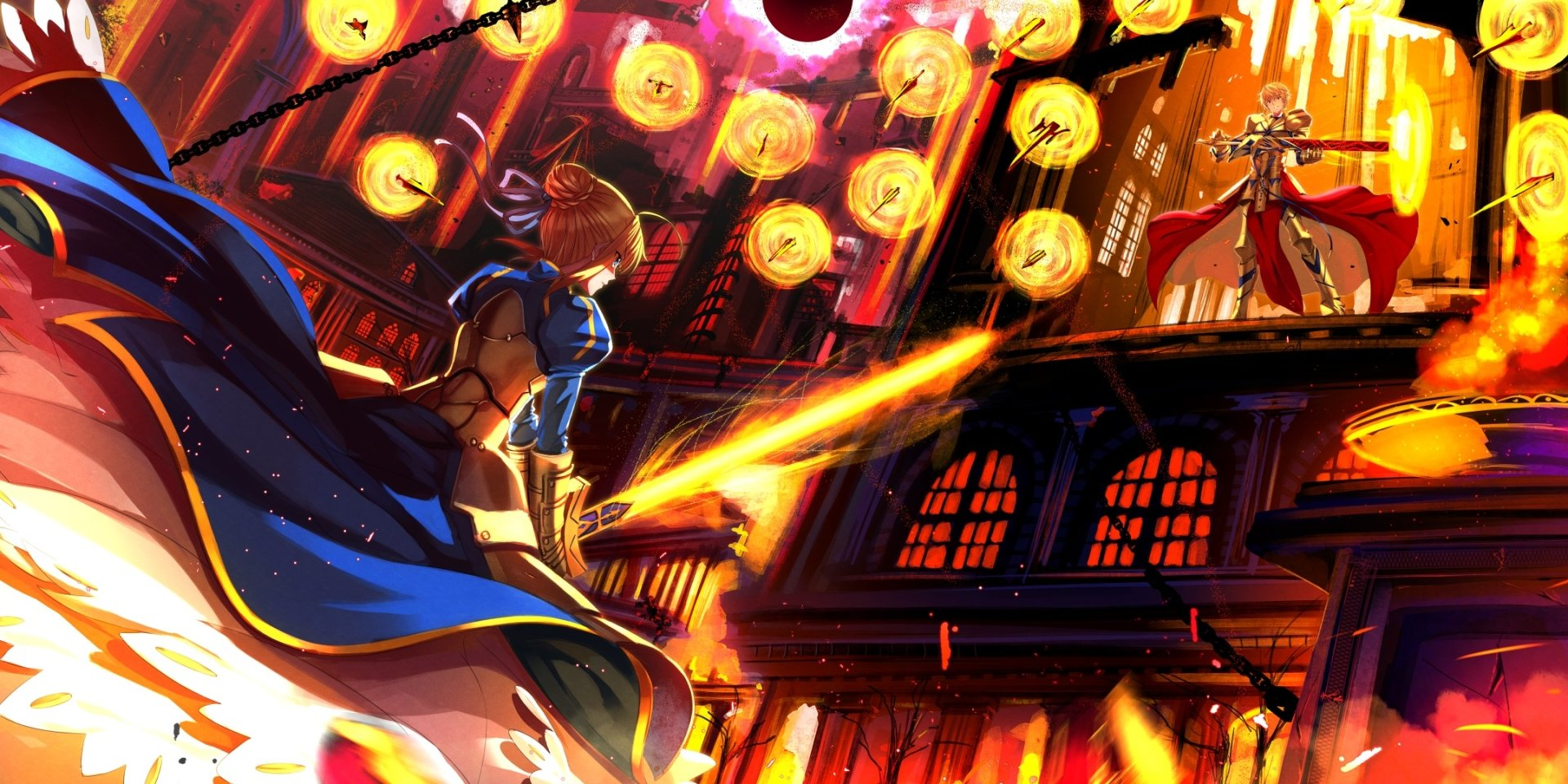 Anime-Fate-Stay-Night-Saber-Fate-Series-Gilgamesh-Fate-Stay-Night-Saber-Lily-Dress-Weapon-Espad-wallpaper-wp3602540