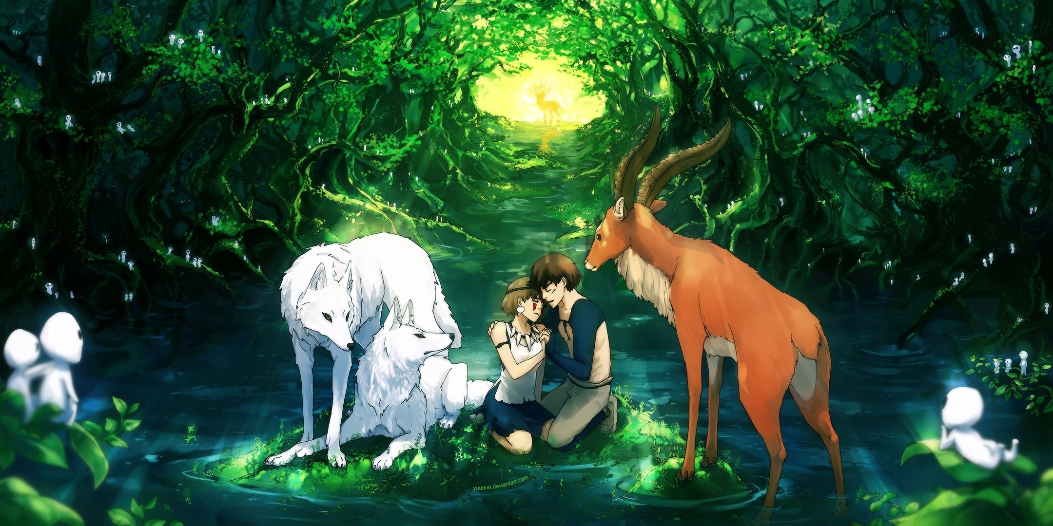 Ashitaka-And-San-With-Wolfs-Princess-Mononoke-%C3%971080-wallpaper-wp3602750