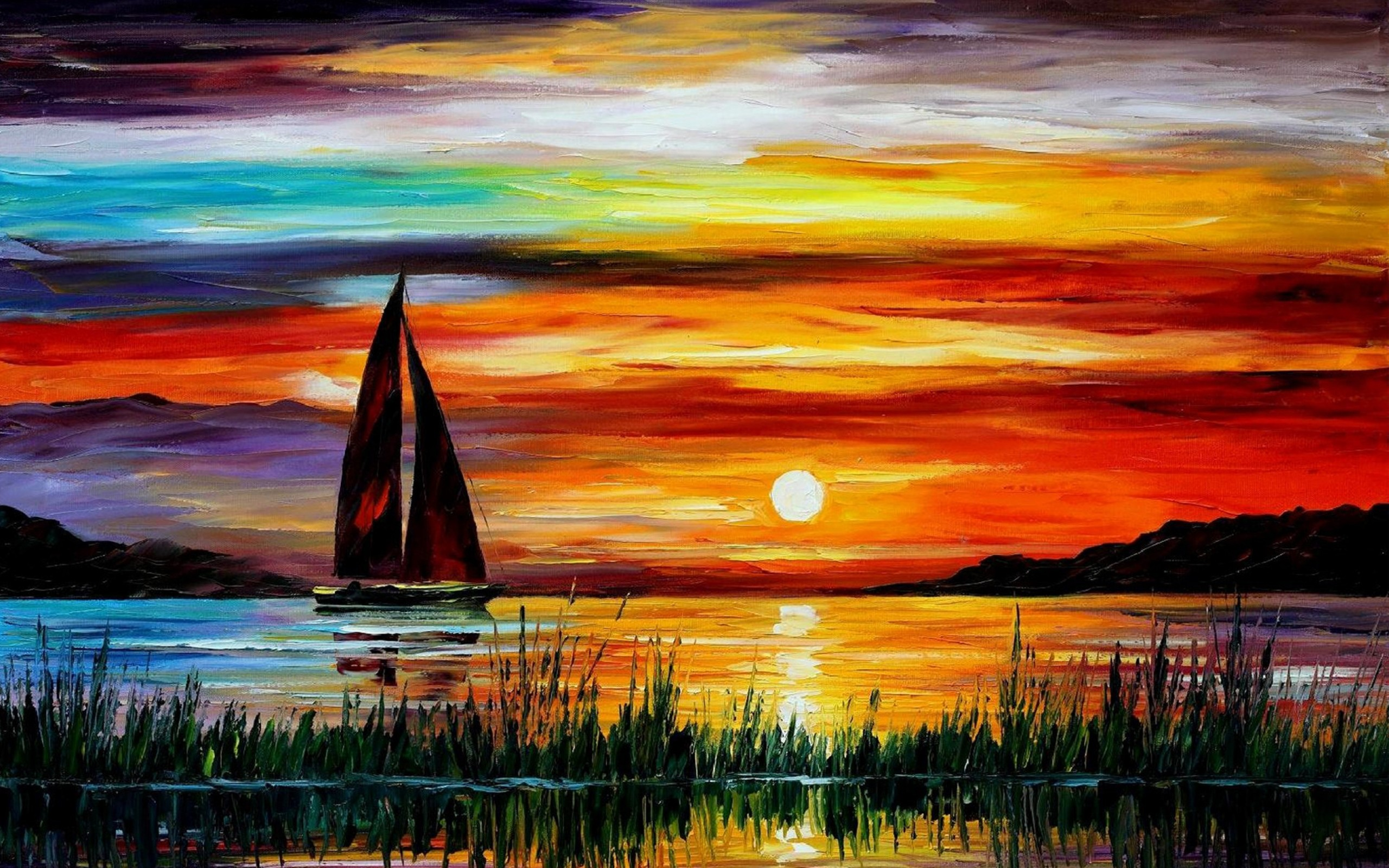 Awesome-Sunset-Boat-Sea-Paintings-and-HD-Desktop-Images-For-4k-1080p-Widescreen-Resolu-wallpaper-wp3602868