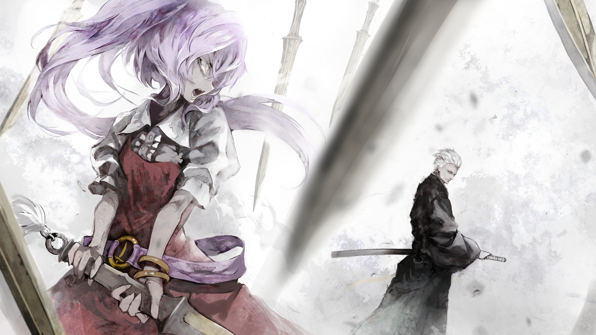 Banpai-akira-crossover-devil-may-cry-katana-purple-hair-sword-touhou-vergil-watatsuki-no-yorihime-we-wallpaper-wp3802779
