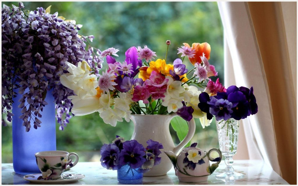 Bouquet-Of-Flowers-With-Morning-Coffee-bouquet-of-flowers-with-morning-coffee-desktop-b-wallpaper-wp3603691