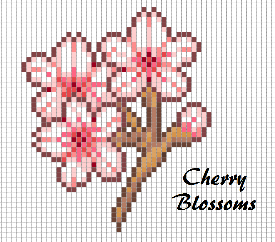 Cherry-Blossoms-Perler-Bead-Chart-Pixel-Art-Design-wallpaper-wpc9003466