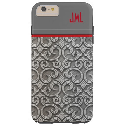 Chic-Silver-Metallic-Embossed-Swirls-iPhone-Case-wallpaper-wpc5803416