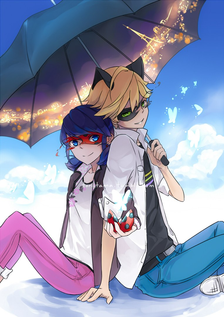 Chilling-in-the-clouds-I-love-the-details-inside-the-umbrella-Miraculous-Ladybug-Marinette-Adr-wallpaper-wp3604058