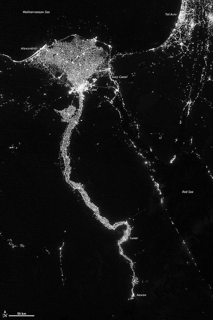 City-Lights-Illuminate-the-Nile-by-NASA-Goddard-Photography-Nile-NASA-wallpaper-wp3803807
