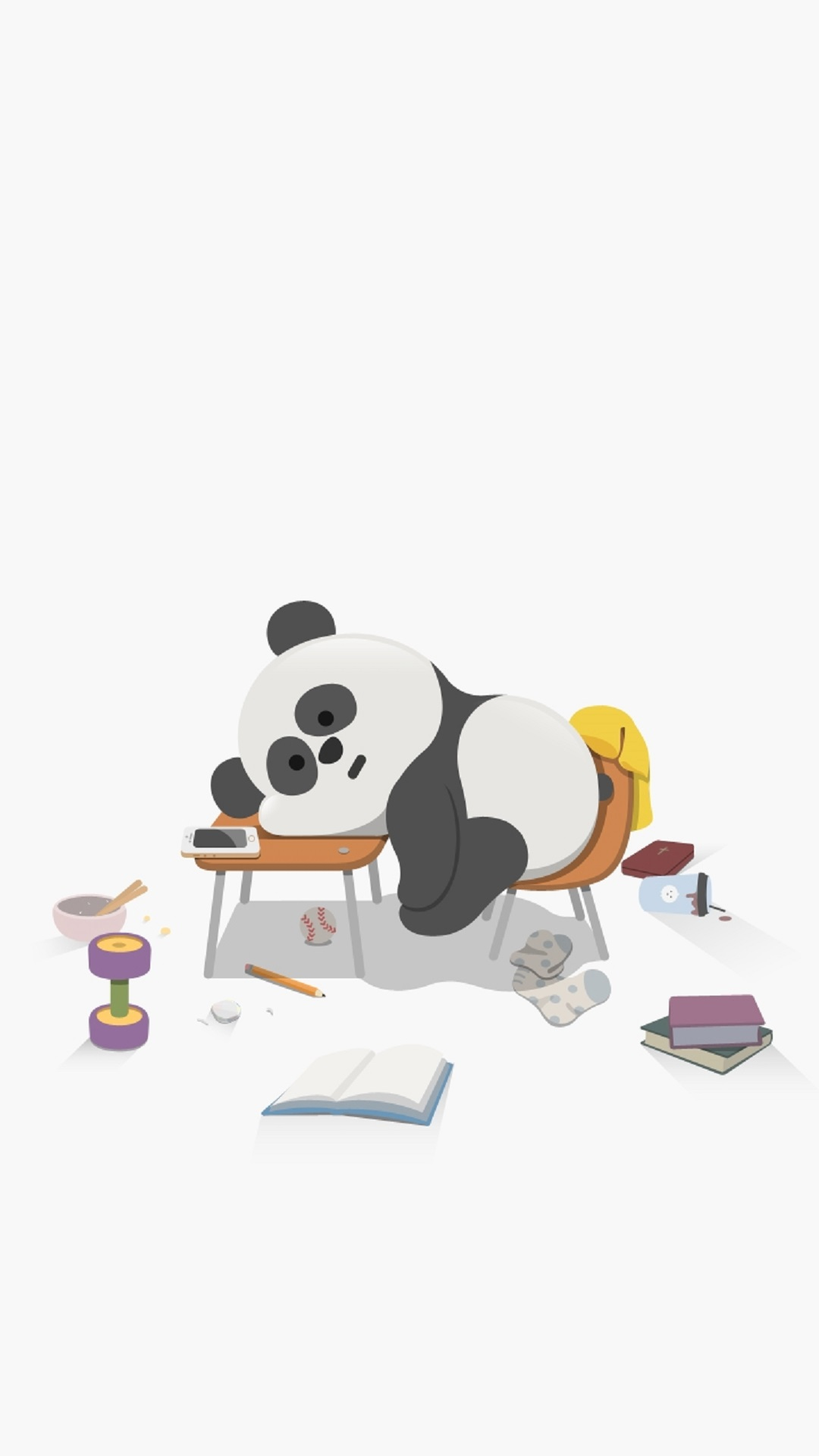 Cute-Sleepy-Panda-Cute-Animal-iPhone-Tap-to-see-more-high-quality-iphone-ba-wallpaper-wpc9003948