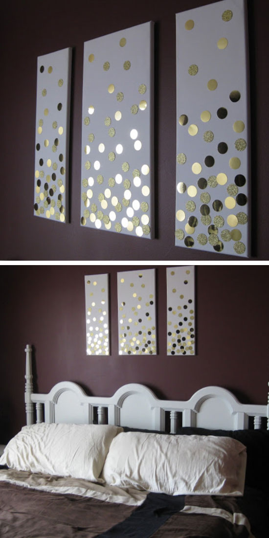 DIY-Canvas-Wall-Art-Using-Hole-Punch-and-Gold-Card-Click-Pic-for-DIY-Wall-Art-Ideas-for-Livin-wallpaper-wpc5804157