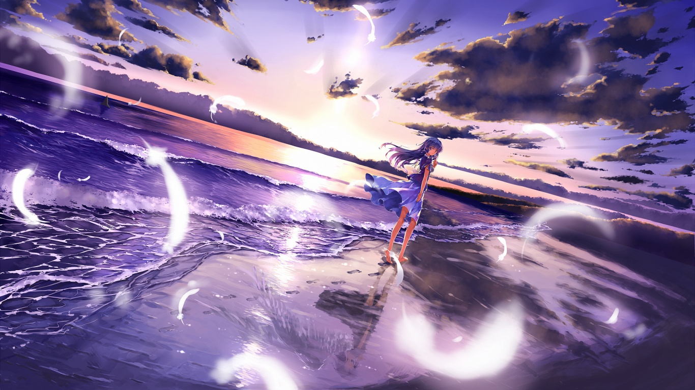 Description-The-above-is-Anime-girl-beach-in-wallpaper-wp3804461