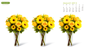 Desktop-calendar-August-with-yellow-roses-and-daisies-Resolution-is-1920-x-1080-wallpaper-wpc5804064