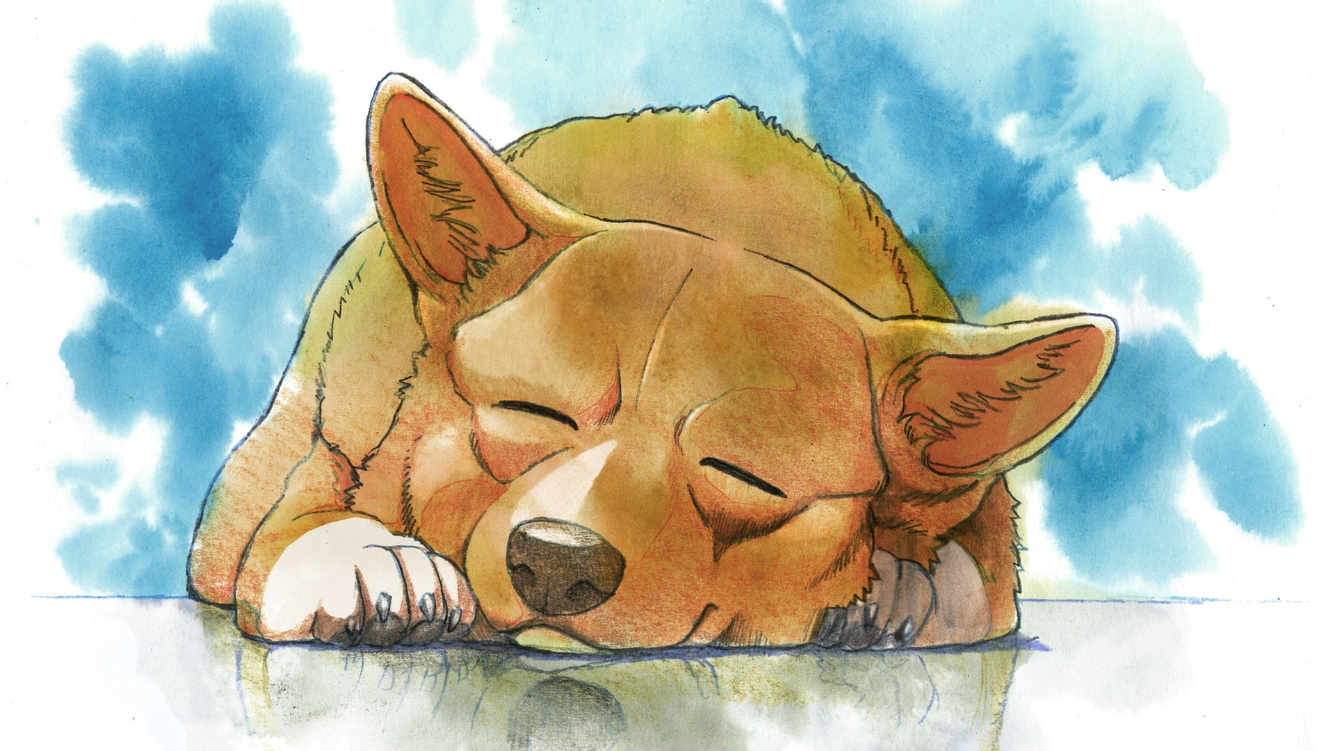 Dog-Drawing-Sleep-art-cartoons-1920x1080-wallpaper-wp3804603