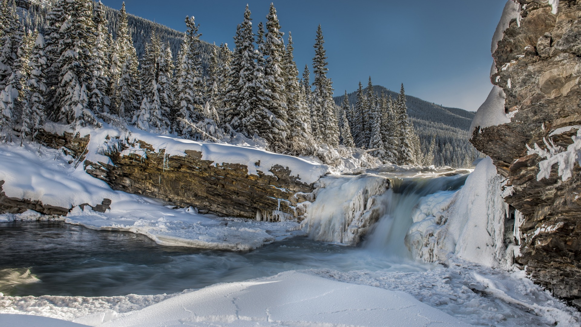Download-ice-winter-forest-snow-mountains-river-tree-waterfall-section-Res-wallpaper-wpc9004482