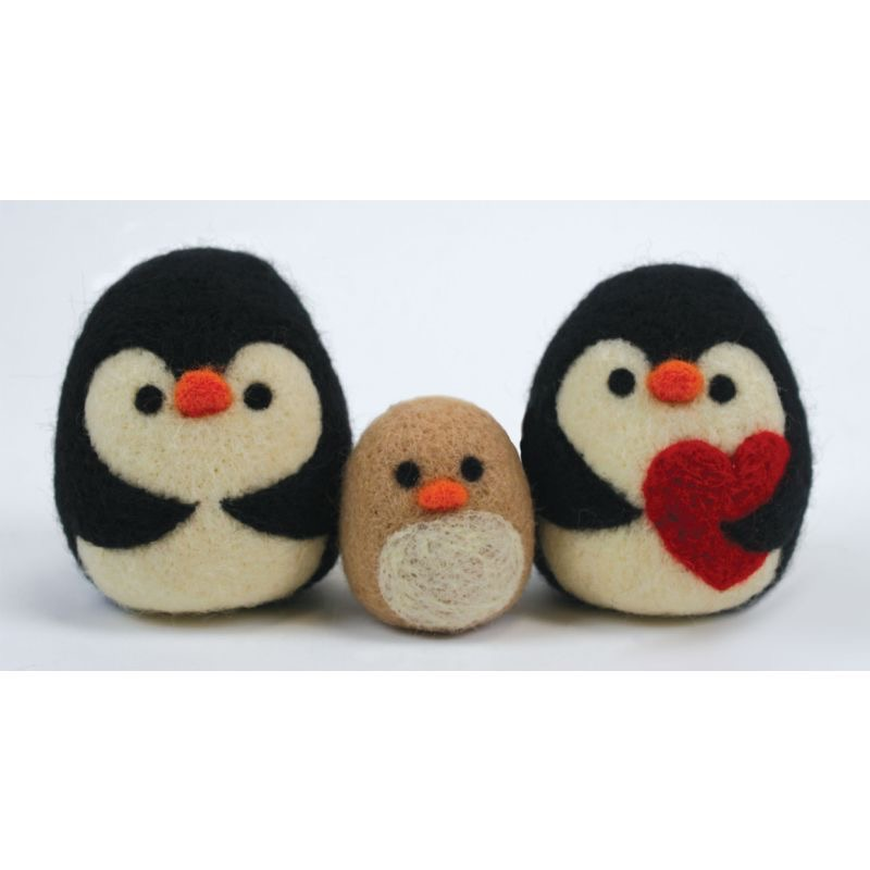Felt-Penguin-Family-wallpaper-wpc9004895
