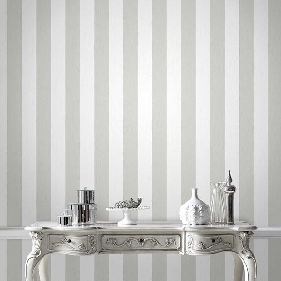 Glitterati-Stunning-Designer-Glitter-Striped-in-White-Silver-in-Home-Furniture-DI-wallpaper-wpc920111