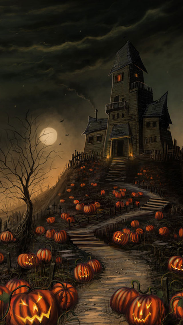 Haunted-House-Halloween-Halloween-Haunted-House-iPhone-s-wallpaper-wp3806301