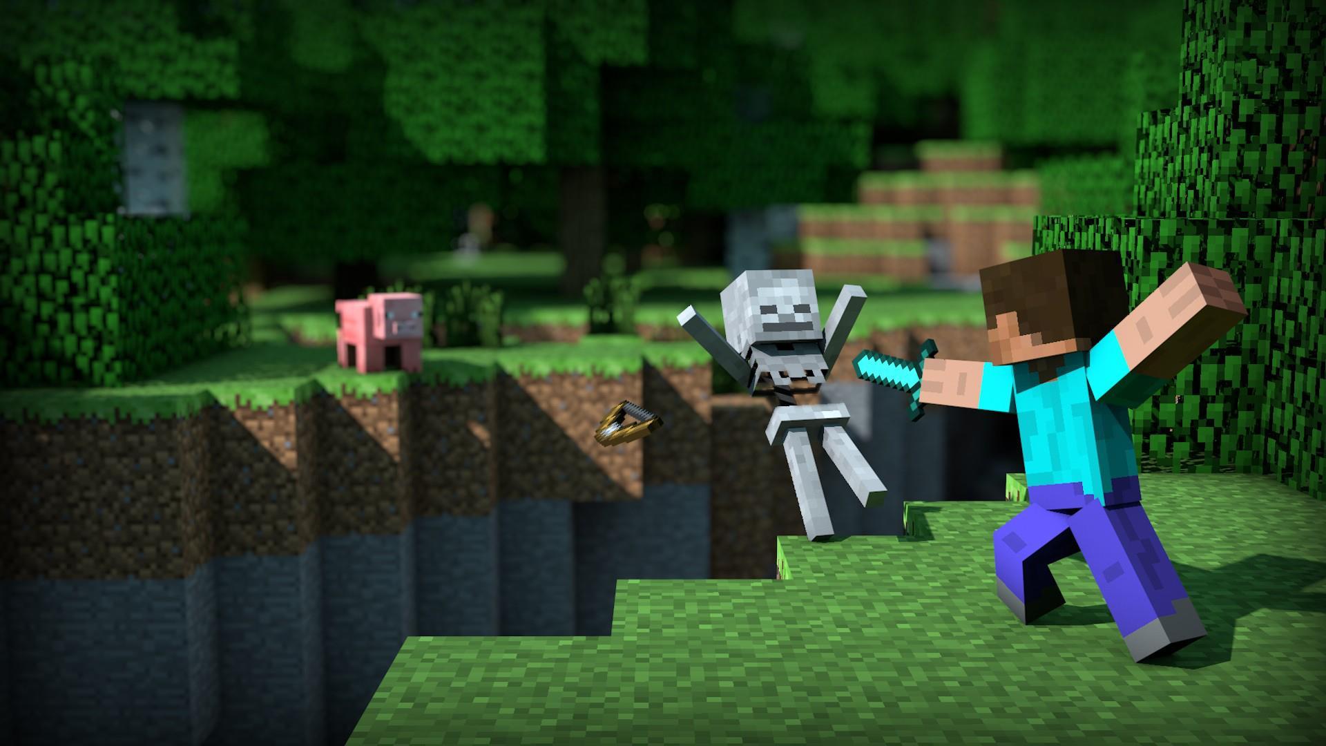 Minecraft-Background-Sdeer-wallpaper-wpc5807191