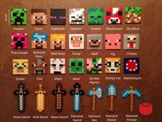 Minecraft-Keychains-Magnets-and-Pins-from-Perler-Beads-on-Etsy-wallpaper-wpc9007645