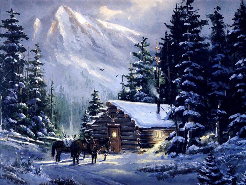Mountain-Cabin-art-mountain-Mountain-cabin-Nature-Winter-HD-wallpaper-wpc9007813