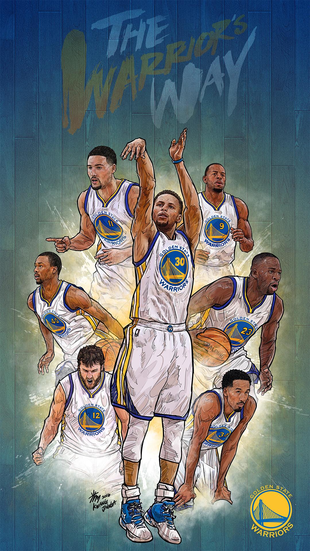 NBA-Phone-Artist-Kim-MinSuk-Yellowmenace-basketballart-GSW%E2%80%A6-wallpaper-wpc5807570