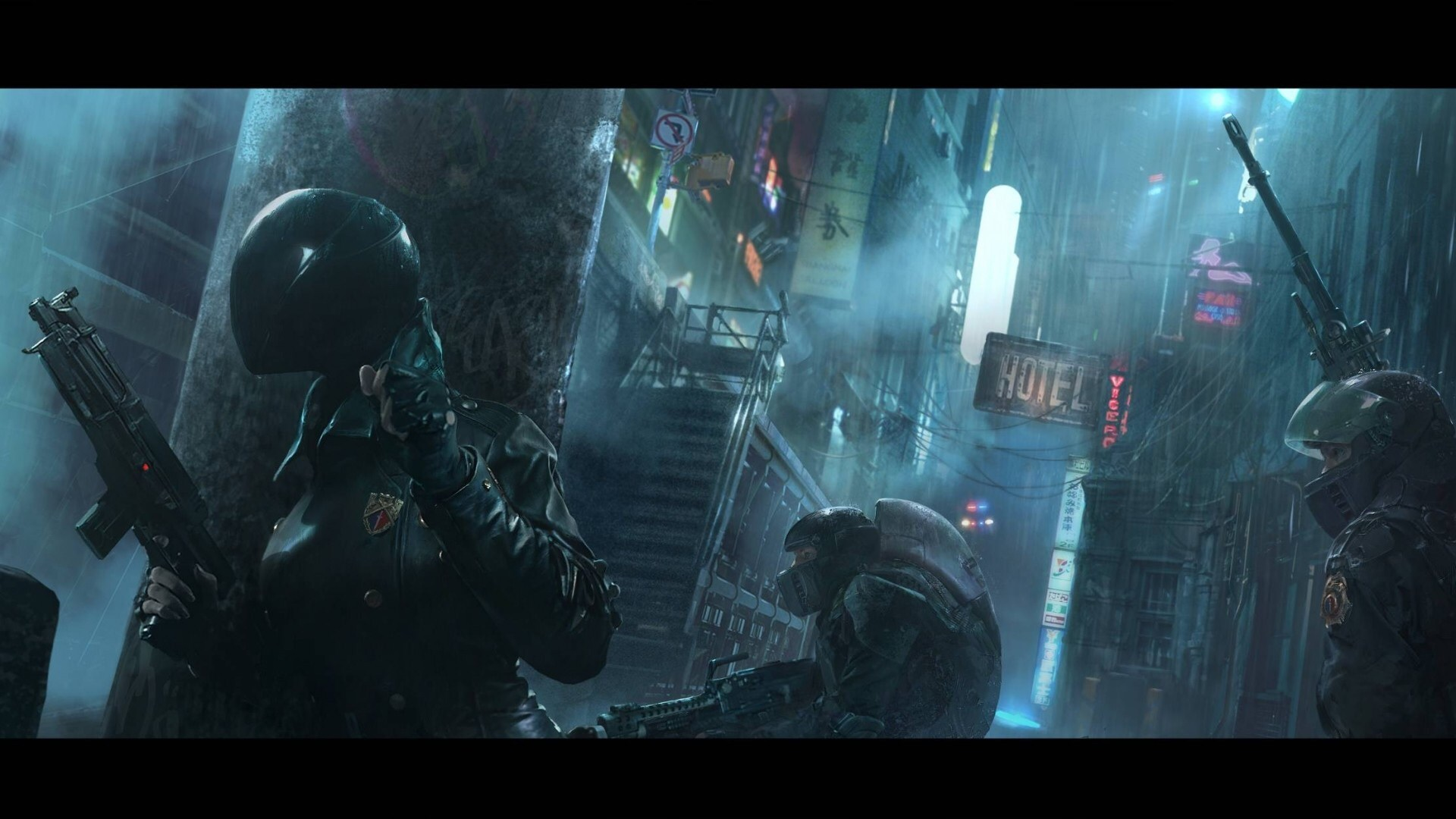 Police-action-in-a-cyberpunk-world-1920-1080-wallpaper-wpc9008598