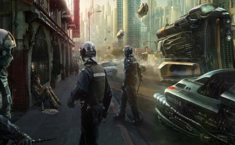 Police-officers-in-futuristic-city-HD-wallpaper-wpc9008605