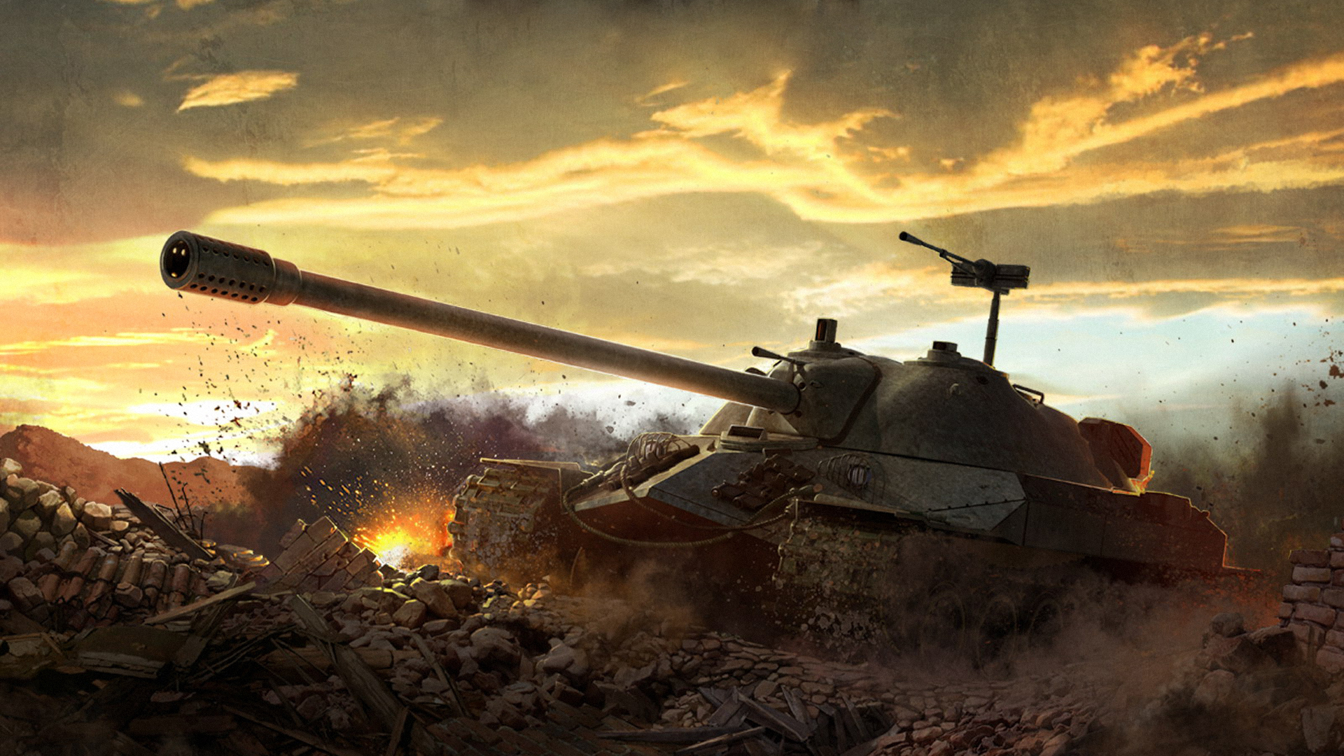 World-of-Tanks-Soviet-heavy-tank-IS-and-images-wallpaper-wp38012223