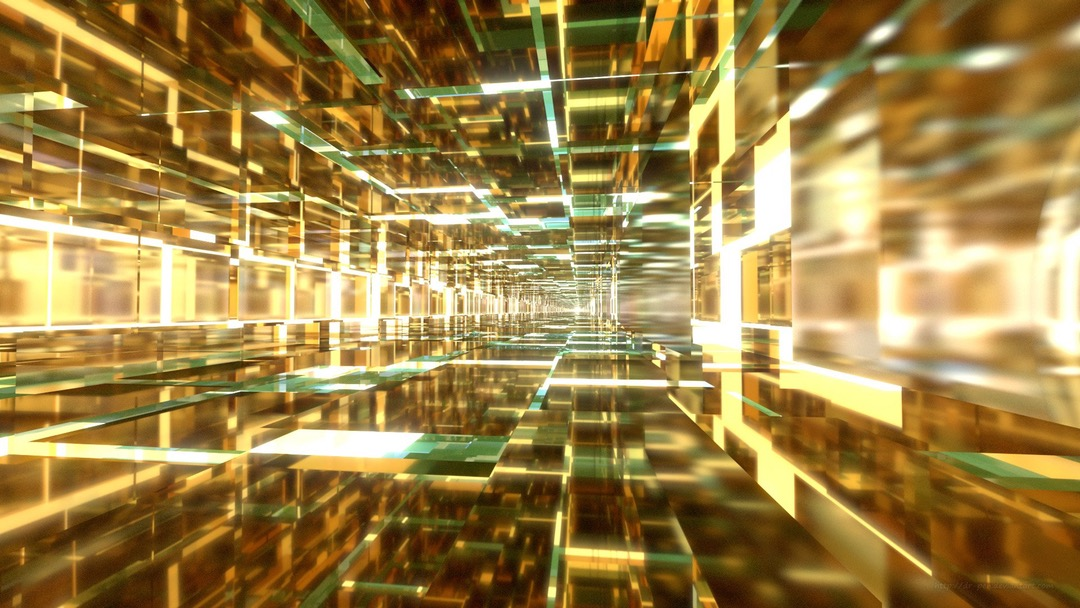 aqua-and-gold-tunnel-digital-1920x1080-wallpaper-wpc5802225