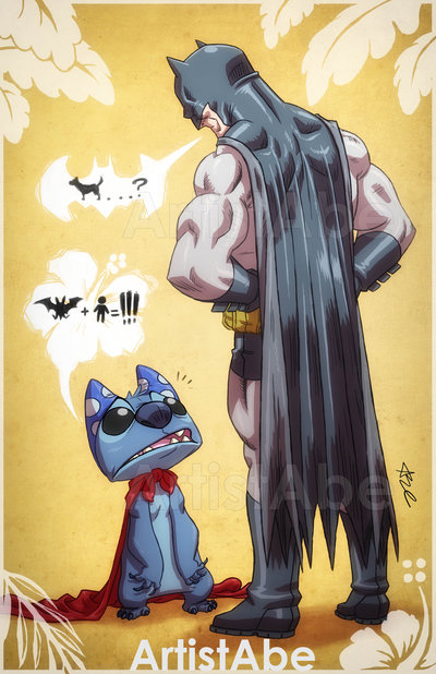 batman-meets-stitch-in-close-encounters-of-the-bat-kind-wallpaper-wp3802854