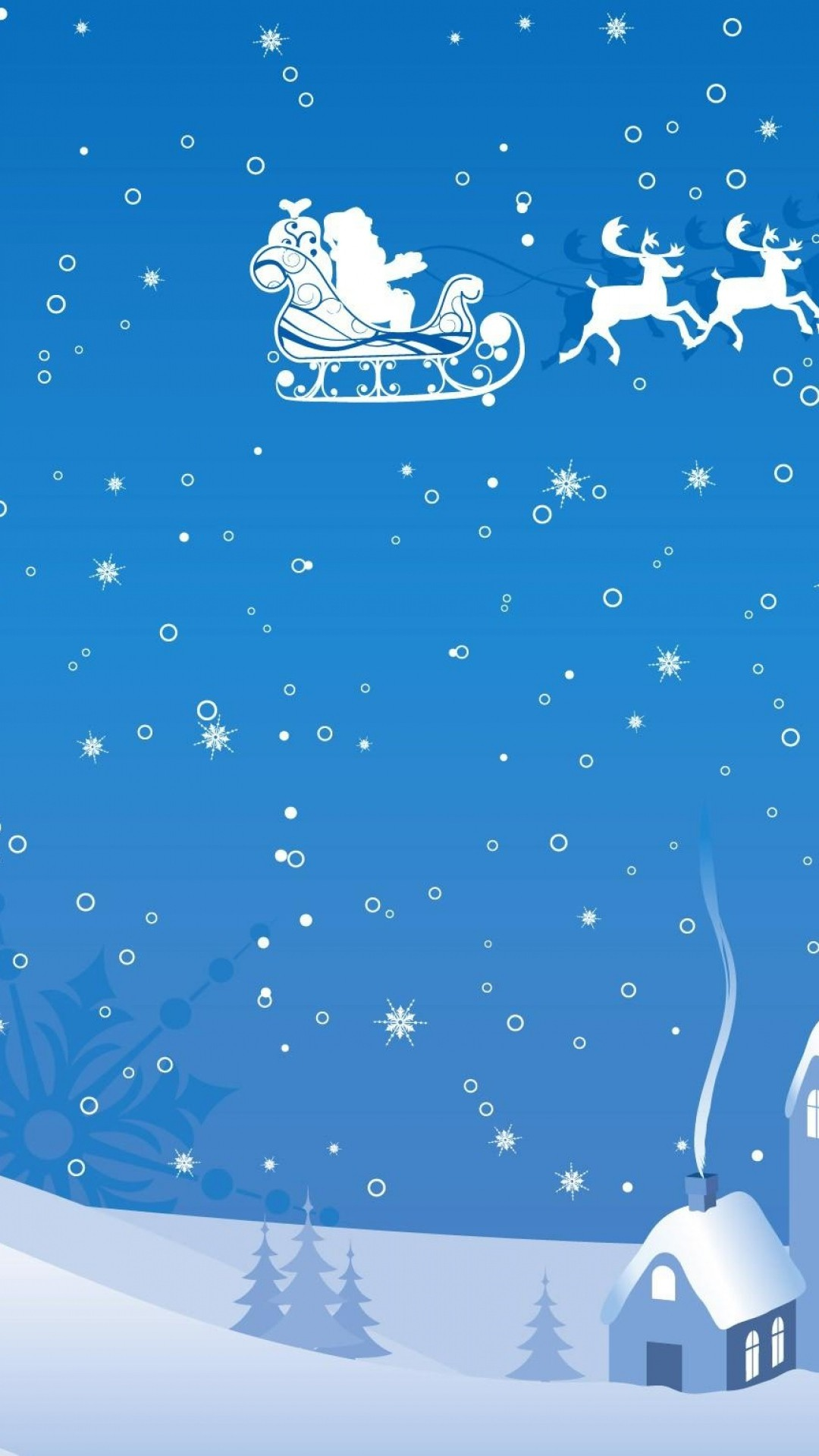 blue-and-white-Christmas-santa-iPhone-plus-reindeer-wallpaper-wpc9003018