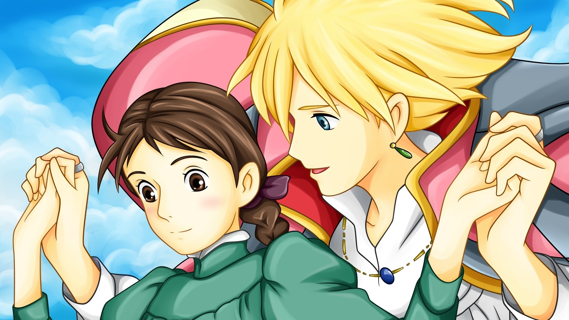 chrisp-howls-moving-castle-howl-sophie-hatter-boy-girl-hands-smile-winding-1920x1080-1920-wallpaper-wp3604069