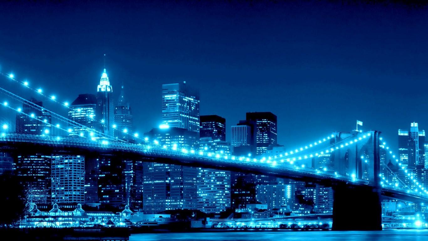 Cool blue wallpaper hd for Immagini desktop new york