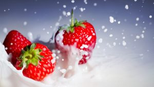 strawberi kertas dinding HD